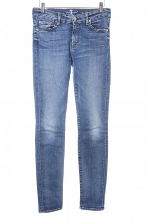 7 For All Mankind Slim jeans staalblauw gewassen uitstraling