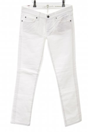 7 For All Mankind Vaquero slim blanco Estilo años 90