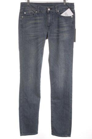 7 For All Mankind Slim Jeans wollweiß-stahlblau Jeans-Optik