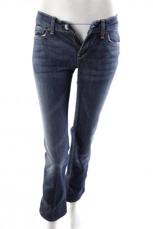 7 For All Mankind Slimjeans Used-Optik blau