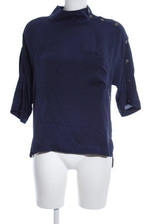 7 For All Mankind Blusa de cuello alto azul look casual