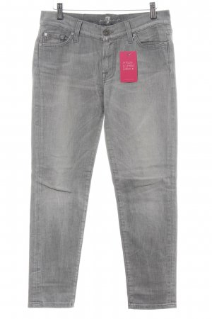 7 For All Mankind Straight Leg Jeans light grey casual look