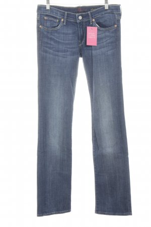 7 For All Mankind Vaquero rectos azul neón look casual