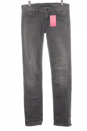 7 For All Mankind Vaquero rectos gris antracita look casual