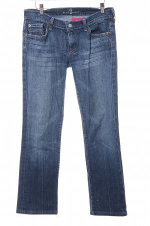 7 For All Mankind Straight-Leg Jeans blau Bleached-Optik