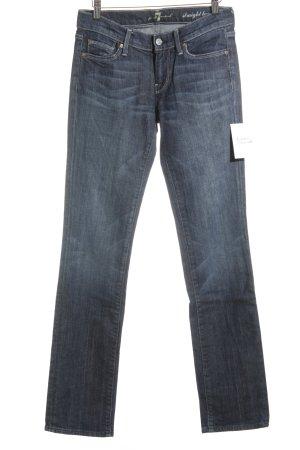 7 For All Mankind Straight-Leg Jeans blau-graublau Casual-Look