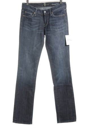 7 For All Mankind Vaquero rectos azul-gris pizarra look casual