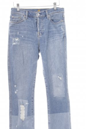 7 For All Mankind Vaquero rectos azul-azul claro degradado de color look casual