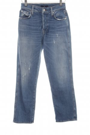 7 For All Mankind Vaquero rectos azul-azul celeste Paris-Look