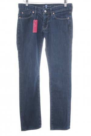 7 For All Mankind Straight-Leg Jeans blau meliert Casual-Look