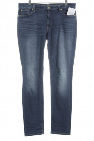 7 For All Mankind Jeans coupe-droite bleu style simple