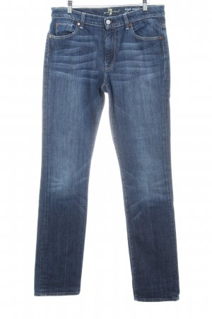 7 For All Mankind Straight-Leg Jeans blau schlichter Stil