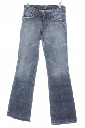 7 For All Mankind Straight-Leg Jeans blau-stahlblau Casual-Look