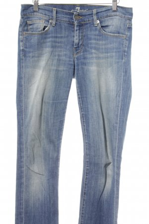 7 For All Mankind Jeans a gamba dritta blu-blu acciaio stile casual