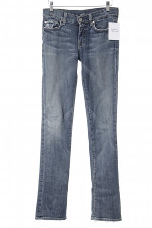 7 For All Mankind Straight-Leg Jeans blau Used-Optik
