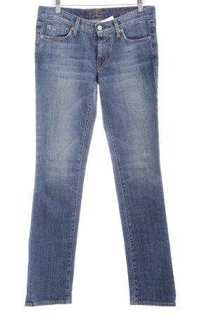 7 For All Mankind Straight-Leg Jeans blau Used-Optik