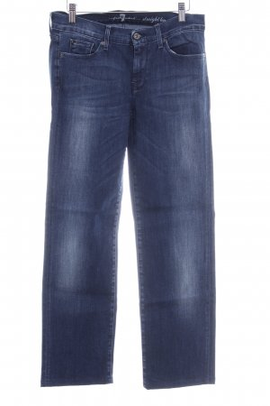 7 For All Mankind Straight-Leg Jeans blau Washed-Optik