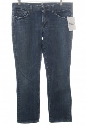 7 For All Mankind Straight-Leg Jeans blau-wollweiß Street-Fashion-Look