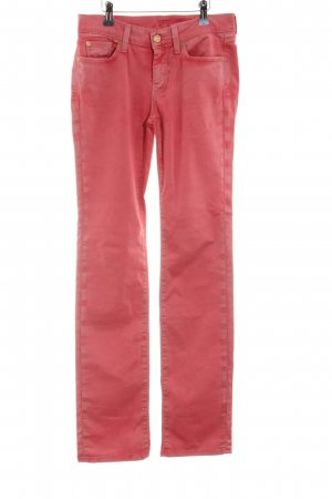 7 For All Mankind Straight Leg Jeans red casual look