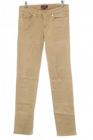 7 For All Mankind Straight Leg Jeans camel-gold-colored simple style
