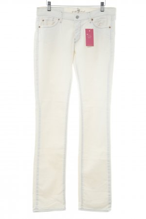 7 For All Mankind Straight-Leg Jeans creme Casual-Look