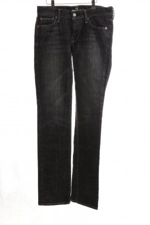 7 For All Mankind Straight Leg Jeans black casual look