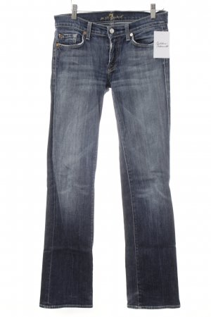 7 For All Mankind Vaquero rectos azul oscuro look casual