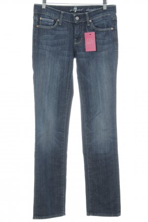 7 For All Mankind Straight Leg Jeans dark blue casual look