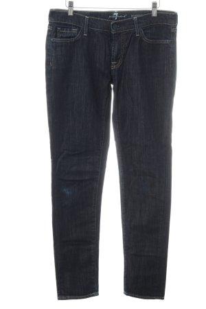 7 For All Mankind Jeans coupe-droite bleu foncé style décontracté