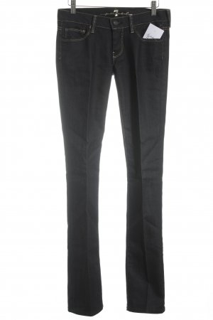 7 For All Mankind Straight Leg Jeans dark blue-gold-colored casual look