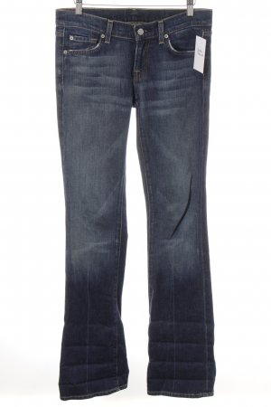 7 For All Mankind Straight-Leg Jeans dunkelblau-graublau Casual-Look