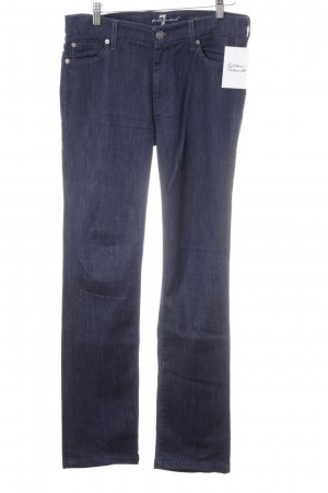 7 For All Mankind Straight-Leg Jeans dunkelblau Jeans-Optik