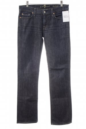 7 For All Mankind Vaquero rectos azul oscuro Apariencia vaquera