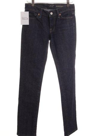 7 For All Mankind Straight-Leg Jeans dunkelblau Jeans-Optik