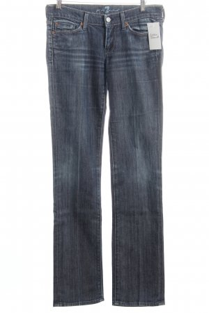 7 For All Mankind Straight-Leg Jeans dunkelblau klassischer Stil