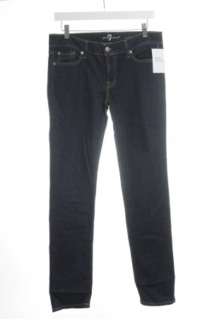 7 For All Mankind Straight-Leg Jeans dunkelblau schlichter Stil