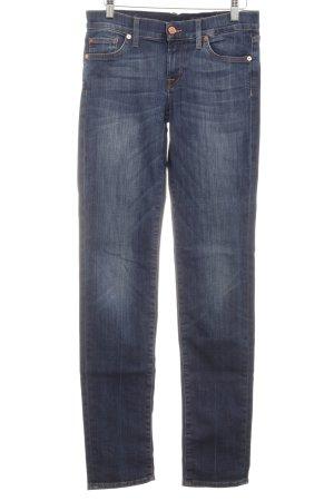 7 For All Mankind Jeans a gamba dritta blu scuro stile semplice
