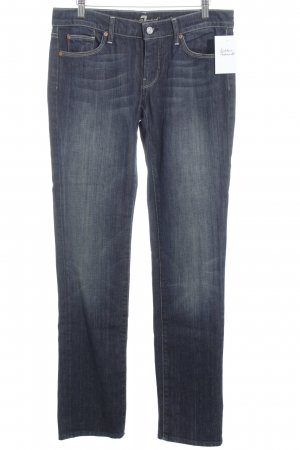 7 For All Mankind Vaquero rectos azul oscuro look Street-Style