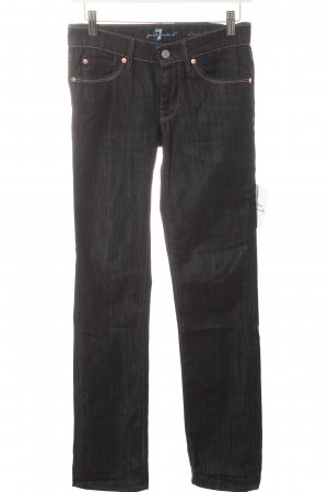 7 For All Mankind Straight-Leg Jeans dunkelblau Street-Fashion-Look