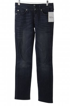 7 For All Mankind Straight-Leg Jeans dunkelblau Used-Optik