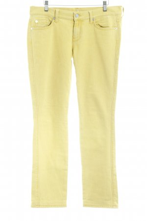 7 For All Mankind Vaquero rectos amarillo oscuro look casual