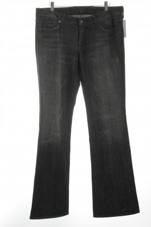 7 For All Mankind Straight-Leg Jeans dunkelgrau Jeans-Optik