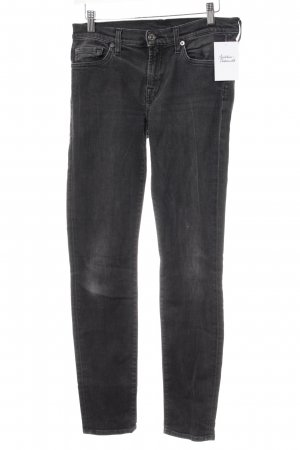 7 For All Mankind Straight-Leg Jeans dunkelgrau schlichter Stil