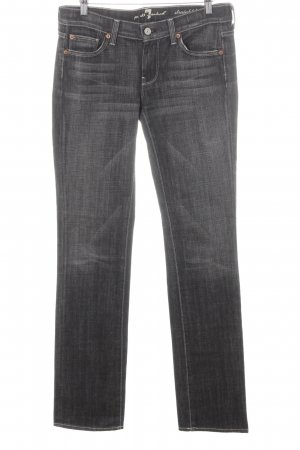 7 For All Mankind Vaquero rectos gris oscuro-blanco look casual