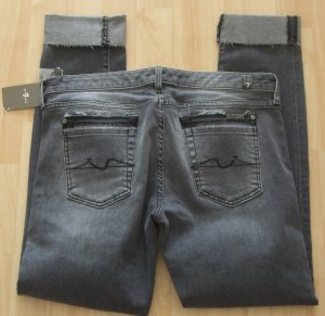 7 For All Mankind Jeans a gamba dritta grigio Cotone