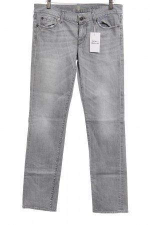 7 For All Mankind Straight-Leg Jeans grau-hellgrau Casual-Look