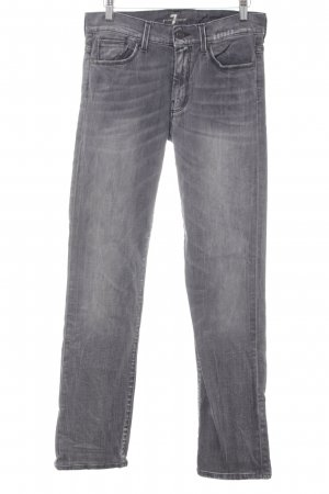 7 For All Mankind Vaquero rectos gris Apariencia vaquera
