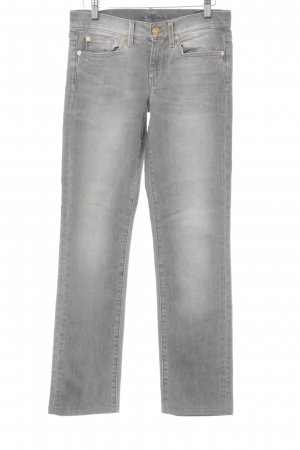 7 For All Mankind Straight-Leg Jeans grau Washed-Optik