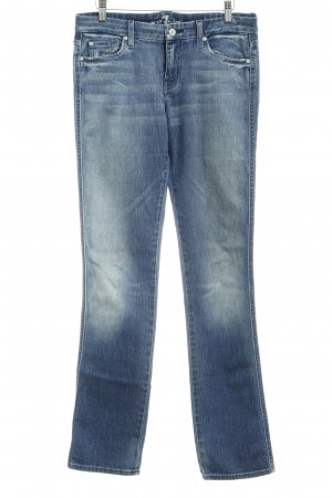 7 For All Mankind Straight-Leg Jeans graublau Casual-Look