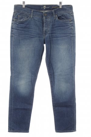 7 For All Mankind Vaquero rectos gris pizarra-azul oscuro look casual